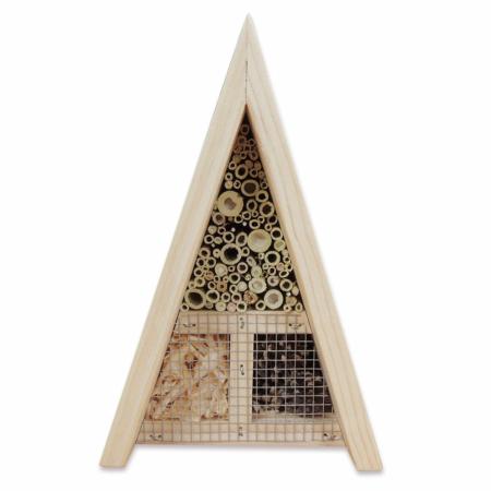 Hotel para insectos triangular