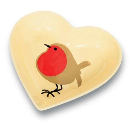 """ILR-D """"I Love Robins Ceramic Dish"""" Comedero tipo plato de cerámica"""