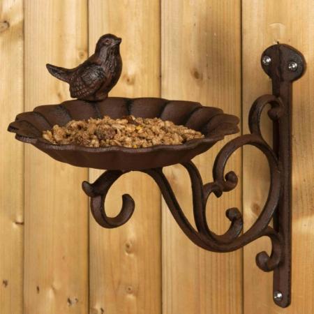 OI-WB Comedero para aves de jardín con soporte para pared